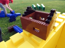 LEGO Bricks on top of Everblocks Bricks.