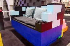 A sofa made of everblocks