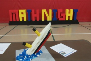 The Titanic at LEGO Math Night