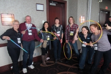 Private event - hoola hoop time!